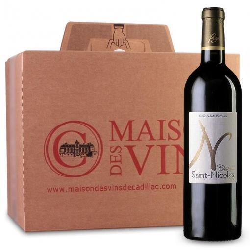Château Saint Nicolas - Cadillac Côtes de Bordeaux - Carton de 6 bouteilles
