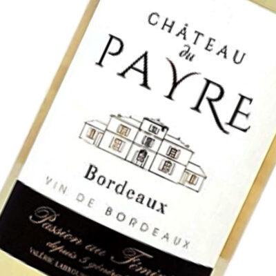 Etiquette Bordeaux Blanc Sec Chateau Du Payre