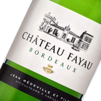 Etiquette Bordeaux Blanc Sec Chateau Fayau