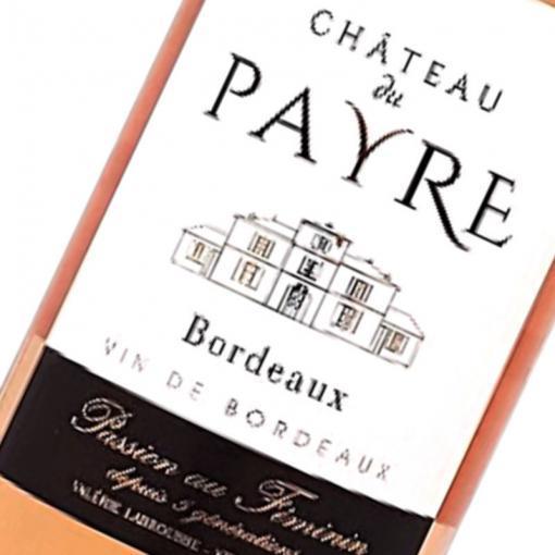 Etiquette Bordeaux Rose Chateau Du Payre