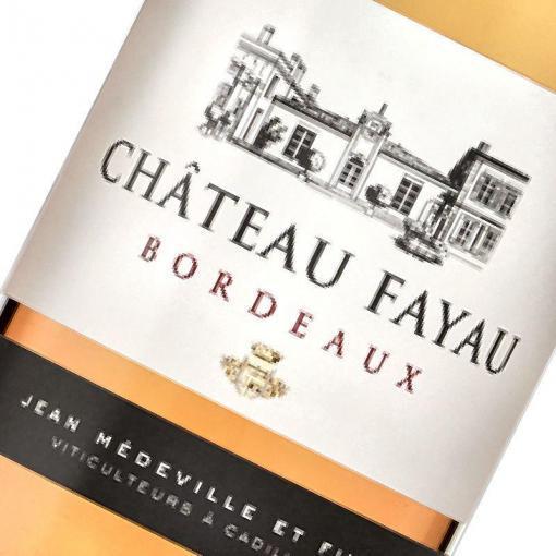 Etiquette Bordeaux Rose Chateau Fayau